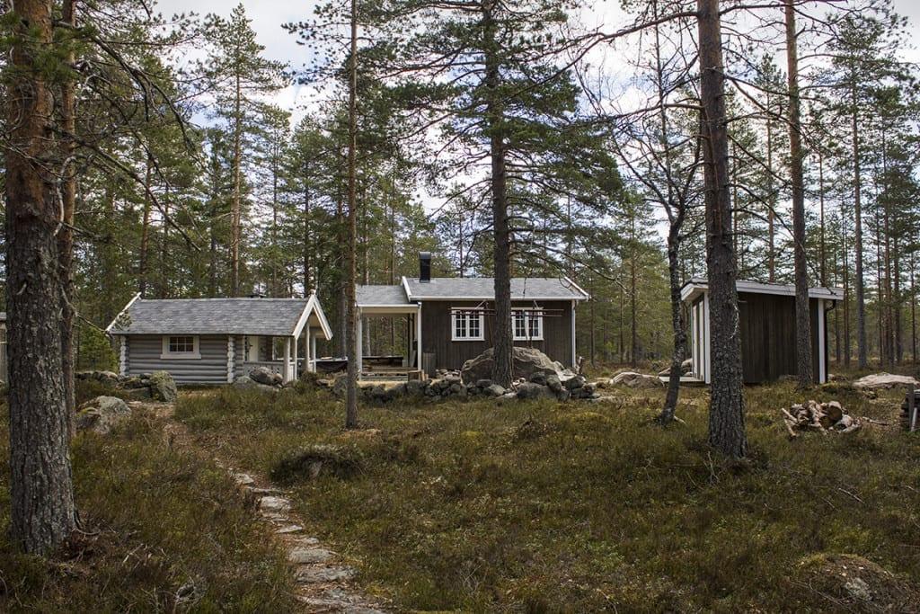 Illustrasjonsfoto: Hytte i skogen