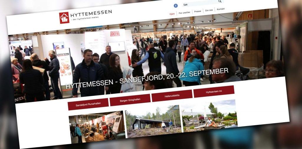 Utklipp webside Hyttemessen Sandefjord 2019